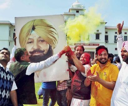 Captain steers Congress to victory, party gets majority in Punjab