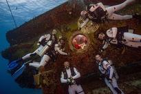 NASA crew trains underwater to prepare for deep space