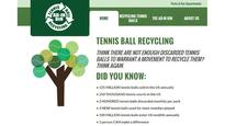 Tennis ball recycling goes mainstream