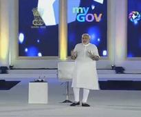 Unsung heroes of digital India programme dot PM Modi's townhall speech venue wearing black badges
