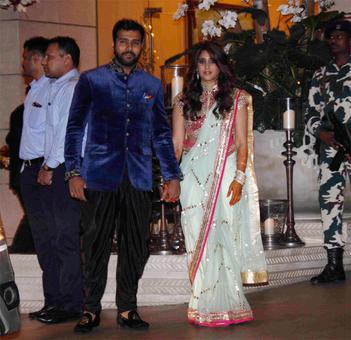 Ambanis host star-studded party for Bhajji and Rohit