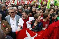 Far-left protesters reject austerity on Hollande anniversary