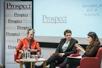 Bronwen Maddox with Ruth Davidson at Prospect's third annual poverty lecture