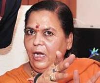 Uma Bharati objects to nod for dams on Ganga tributaries