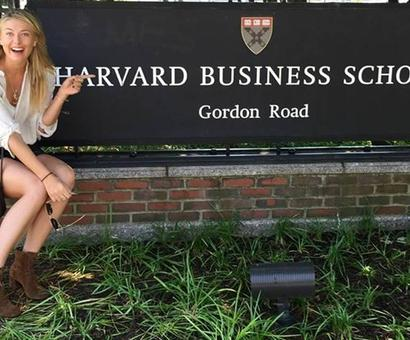 Banned tennis star Sharapova is off to Harvard Business School