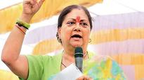 We connect to people through work not speeches: Vasundhara Raje