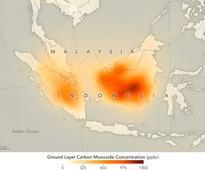 Fires Put a Carbon Monoxide Cloud over Indonesia