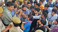 Law student manhandles RU prof during protest by NSUI, booked