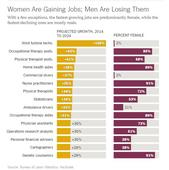 Why men don't want the jobs done mostly by women