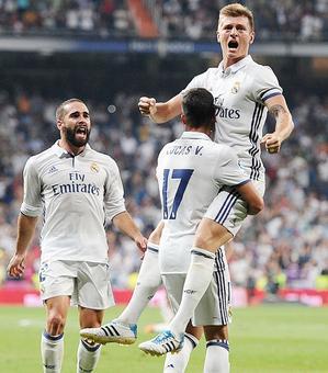 La Liga: Kroos missile delights Real; Atletico held