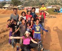 Oman students help repair school in Nepal