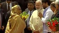 PM Narendra Modi travelled to airport with no road restrictions imposed to receive his Bangladesh counterpart
