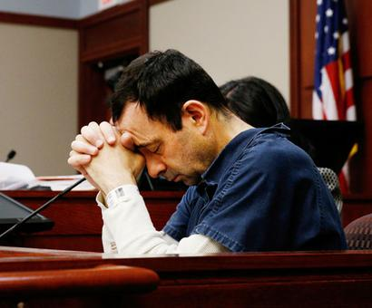 Victim of ex-USA gymnastics doctor says abuse led to dad's suicide