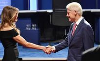 Presidential nominees' spouses meet on sidelines of debate