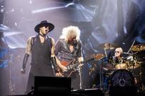 Adam Lambert shines amid Mercury rising