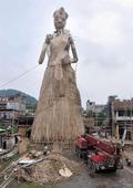 101-ft bamboo Durga idol stakes claim for Guinness entry