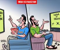 Cartoon: India vs Pakistan Champions Trophy final