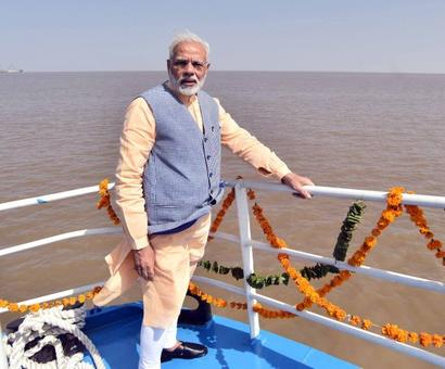 PM launches ferry service, slams UPA for delaying his 'dream project'