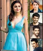 Four men and filmy Alia