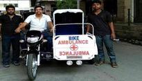 Hyderabad garage owner makes two-wheeler ambulance for poor