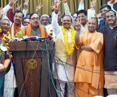 BJP takes sweet revenge, wins 9 RS seats in UP; BSP humbled