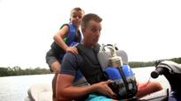 Stenson goes jet-skiing with Claret Jug