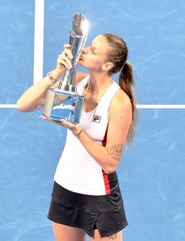 Pliskova breaks into top five after claiming Brisbane title
