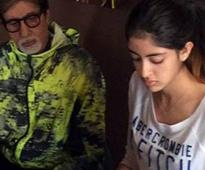 Navya Naveli reacts to her grandfather Amitabh Bachchan's open letter