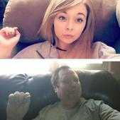 Prankster dad copies daughter's selfies
