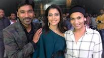 Soundarya Rajnikanth shares a picture of Kajol and Dhanush post their music video shoot