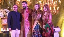 Yuvraj Singh and Hazel Keech's reception pictures are out and the couple is gorgeously good looking
