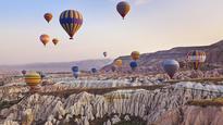 Awe-inspiring footage of Cappadocia's hot air balloon festival