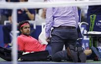Another free pass for Djokovic at US Open when Tsonga stops due to injury
