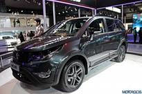 Production-spec Tata Hexa spied undisguised; looks sinister in black