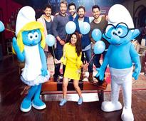 OMG! Smurfs visited Golmaal Again sets