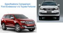 Ford Endeavour vs Toyota Fortuner: Specs Comparison