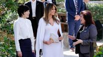 US First Lady Melania Trump tours Japanese garden with Akie Abe