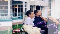 Kate Hudson, son Ryder rock identical shaved look
