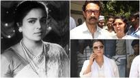 Check Pics: From Aamir Khan to Kajol, B-Town attends Reema Lagoo's funeral