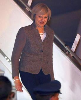 Brit PM Theresa May arrives in India amid calls for relaxation of visa restrictions