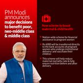 Infographics: PM Modi announces major decisions to benefit poor neo middle class and middle class