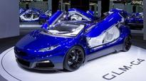 The GLM G4 is a flaming blue electric supercar