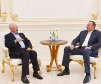 Azerbaijan`s President receives founder and Executive Chairman of World Economic Forum - PHOTO