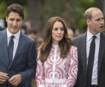 Anti-royalist protesters wave guillotine at William and Kate on royals visit to Vancouver