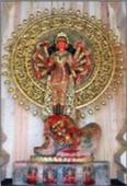 Gold-plated stone Durga to go under hammer soon