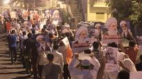 PressTV-Bahrainis rally to support top Shia cleric