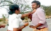 Karnataka: Woman SI in Mandya district slaps 2 youths for driving without helmets