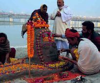 Devotees chant Om Namah Shivaya on Mahashivratri