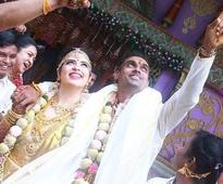 Celebs from all four southern film industry attend Rayane-Mithun wedding