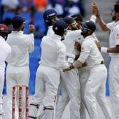 #WIvsIND: Cricket fraternity congratulates Team India on Twitter on their first Test win